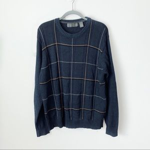 Oscar De La Renta men's sweater blue size xL